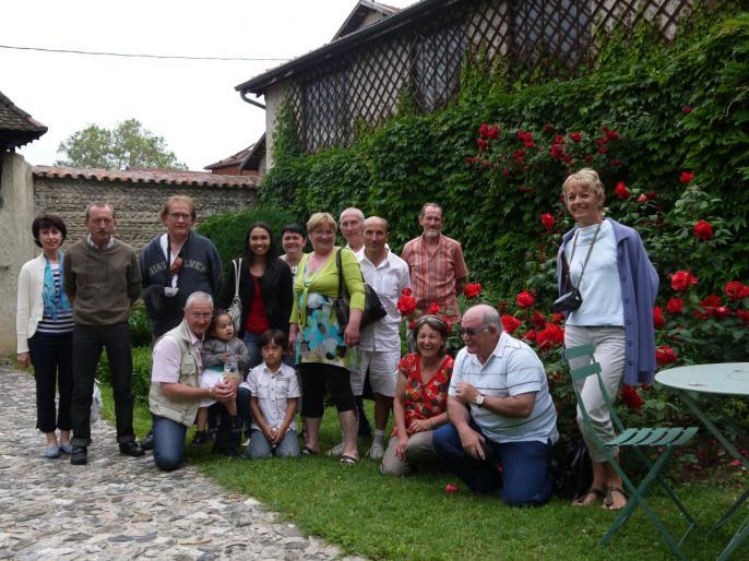 Photo souvenir dans les jardins de Berlioz