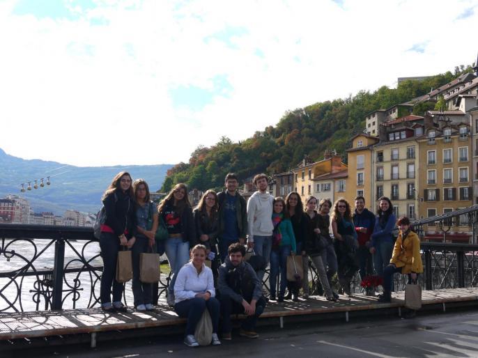 """""""Cliché"""" inévitable à Grenoble, avec les bulles du téléphérique !"""