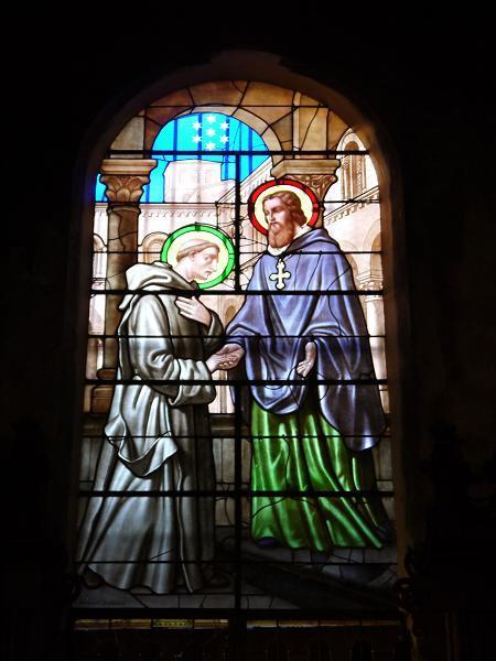 ... qui donc est accueilli par Saint-Hugues ?