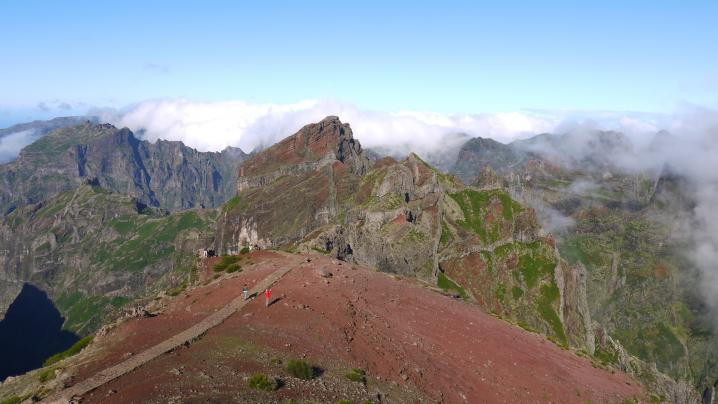 Madère - Départ de la verada do Pico do Arieiro