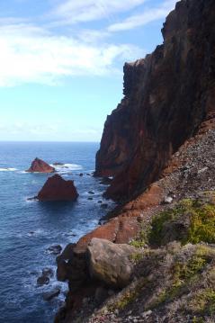 Madère - La pointe de Sao Lourenço - Des falaises abruptes...