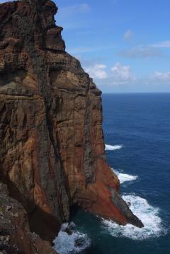 Madère - La pointe de Sao Lourenço - Des falaises abruptes