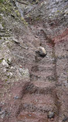 Madère - Escalier taillé dans la roche