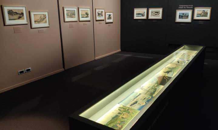 1ère salle dédiée à Hokusai et son célèbre album des