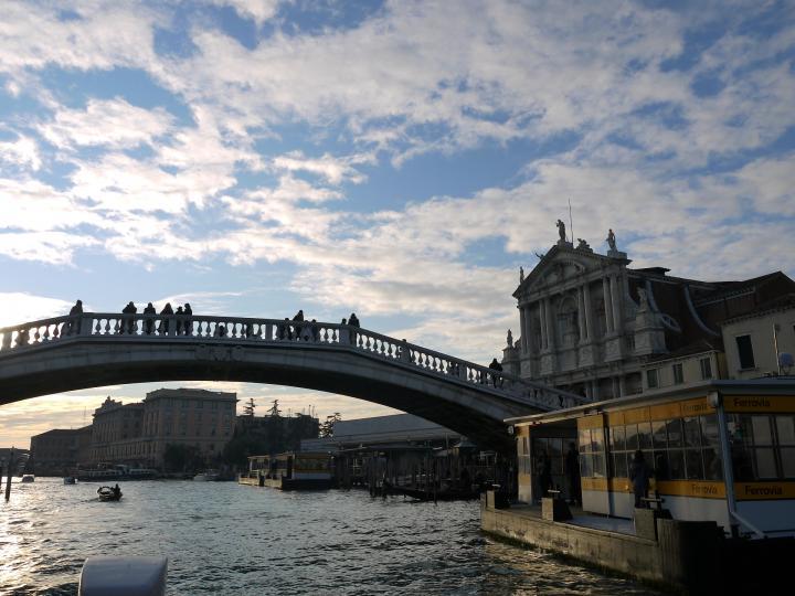 Venise - Ponte degli Scalzi et Eglise Santa Maria