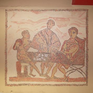 Décor parking casino (jeu chez les romains)