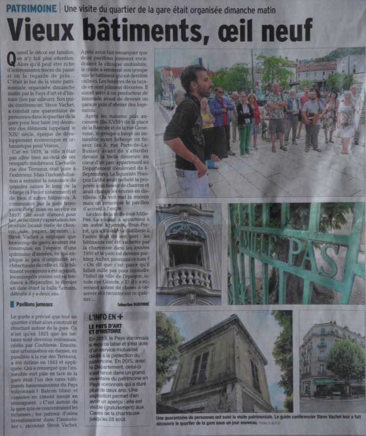 Article Dauphiné Libéré 17-07-18