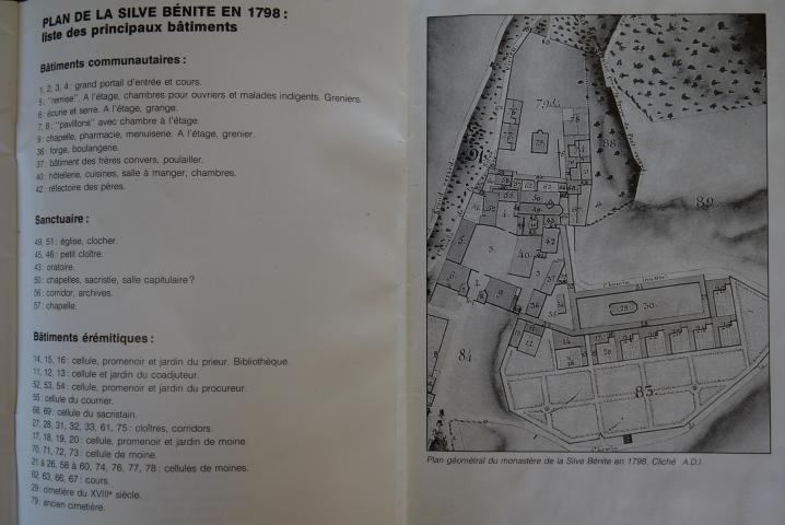 Biblio N°6 - Les mysteres de la Silve Bénite - Plan du monastère en 1798