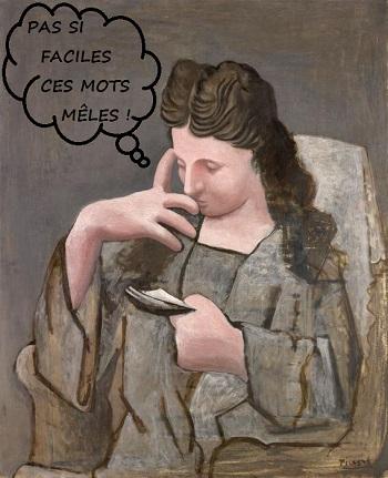 Blog jeux picasso femme lisant avec texte