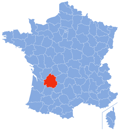 Carte Dordogne en France