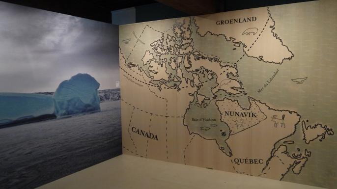 Carte du Nunavik, entrée de l'exposition