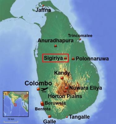 Carte Sri Lanka - Sigiriya