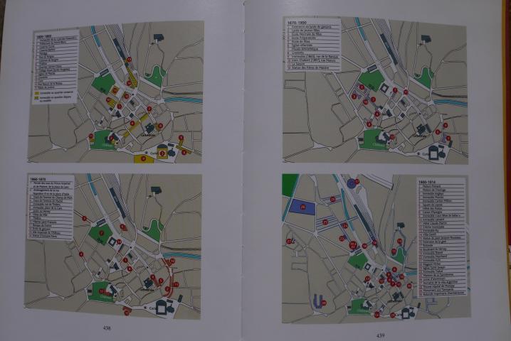 Chambery, lecture d'une ville - De multiples plans de différentes époques