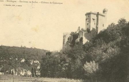 Chateau de Commarque - Carte postale avant restauration