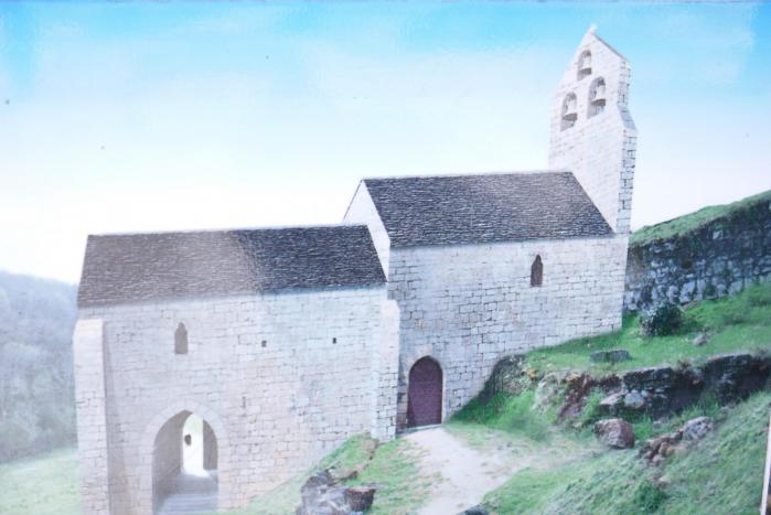 Chateau de commarque chapelle dessin complet