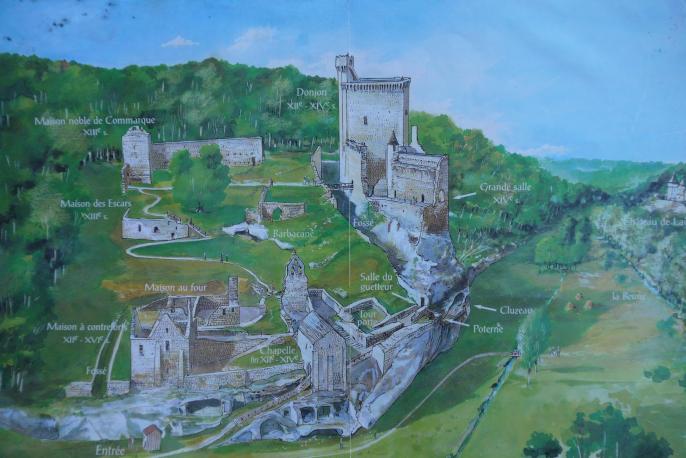 Chateau de Commarque - Plan général