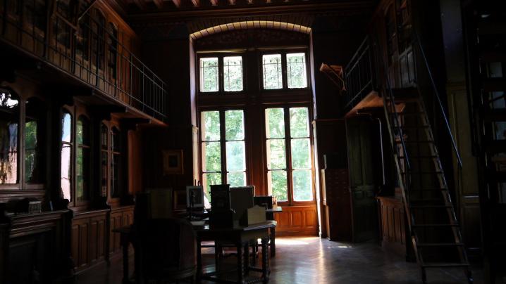 Chateau de Pupetieres - Bibliotheque (contre jour)