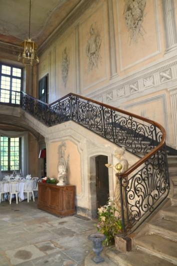 Chateau du passage hall