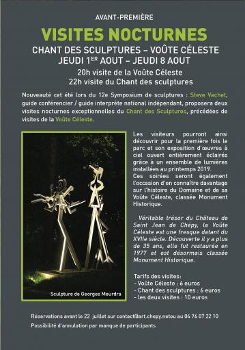 Domaine Saint Jean de Chépy - Programme visites nocturnes 2019