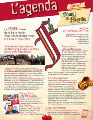 Foire Saint Martin Voiron - Le Programme