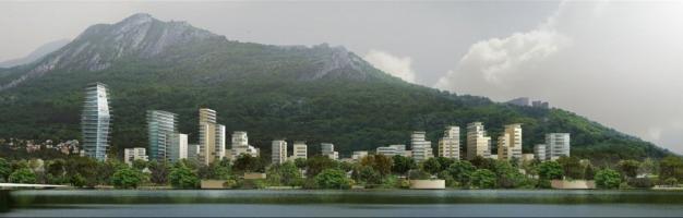 Grenoble Projet Esplanade vu de la presqu'île