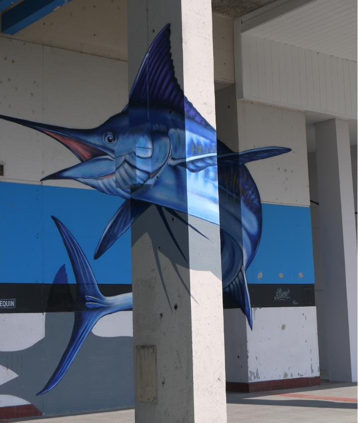 Grenoble Street Art - Etien' - Le Requin (2016)
