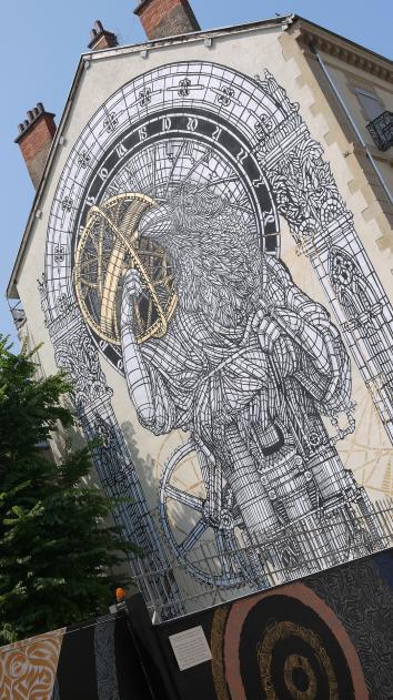Grenoble Street Art - Monkey Bird (La courbe) et Ink4rt (Integration) (2017)