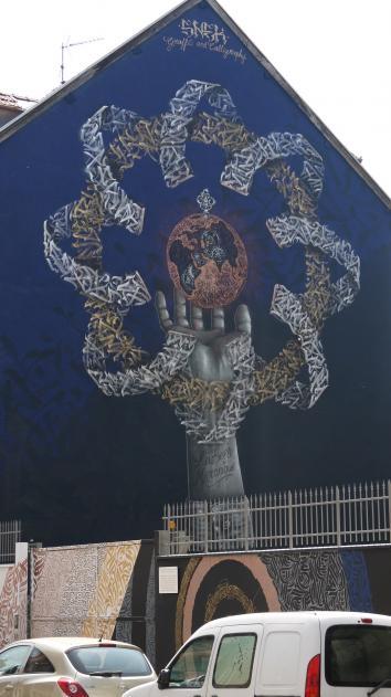 Grenoble Street Art - Snek - La Belle Mécanique (2017)