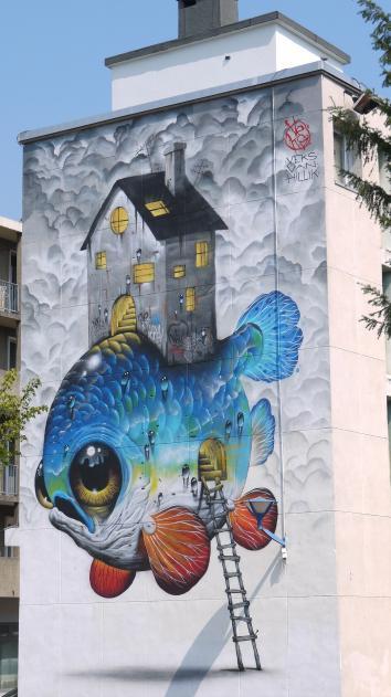 Grenoble Street Art - Veks Van Hillik - La tortue (2017, à Fontaine)