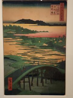 Hiroshige - Le pont Sugatami et le pont Omokage