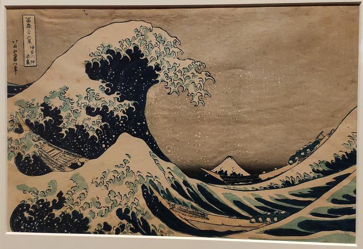 Hokusai - Sous la vague au large de Kanagawa