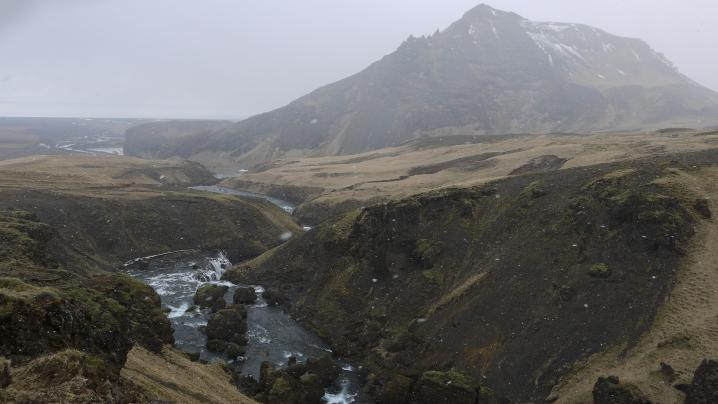 Canyon de la rivière Skoga