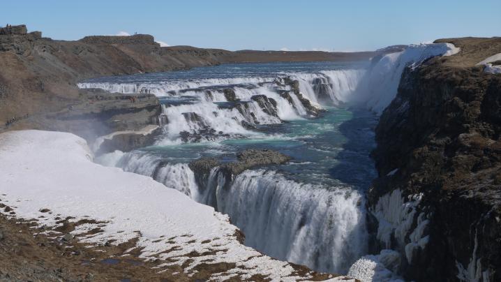 Islande Cascade de Gullfoss