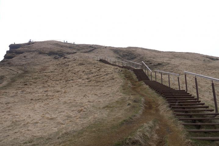 Escalier menant au belvédère au dessus de Skogafoss