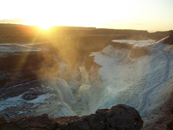 Islande - Gullfoss coucher de soleil (décembre 2009)