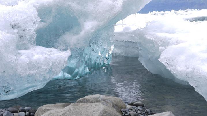Islande - Lagune glaciaire de Jökulsarlon - Icebergs (détail)