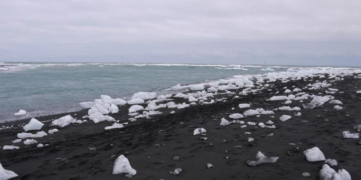 Islande - Plage de diamant de Jökulsarlon