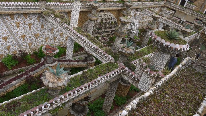 Jardin Rosa Mir - Vue d'en haut