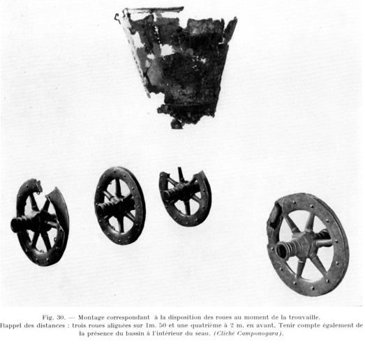 La Côte Saint André - Reconstitution du char selon l'emplacement des trouvailles