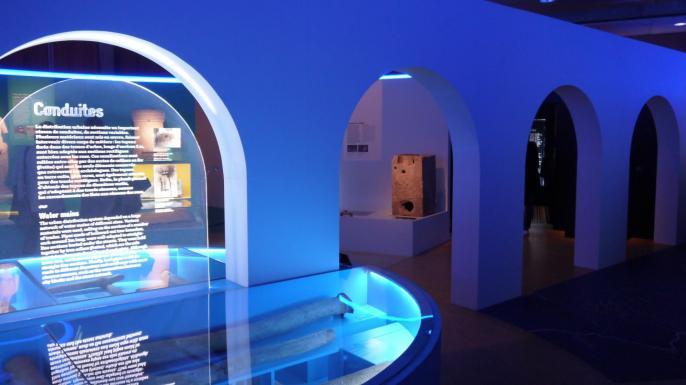 Lugdunum Exposition Aqua (scenographie aqueduc)