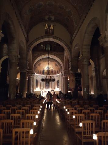 Lyon - Fête des Lumières 2018 - Basilique Saint-Martin d'Ainay (intérieur)