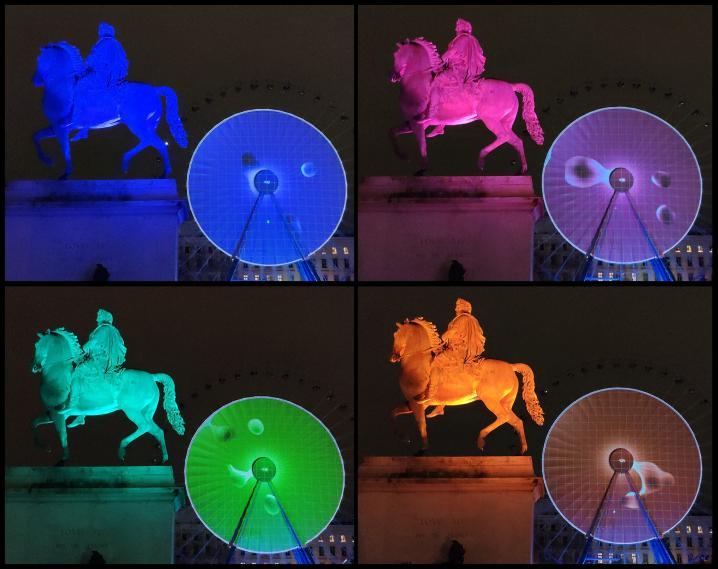 Lyon - Fête des Lumières 2018 - Louis XIV en a vu de toutes les couleurs