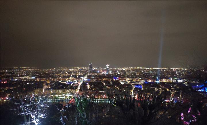 Lyon - Fête des lumières 2018 - Vue sur la ville depuis Fourvière