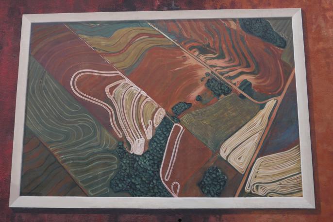Lyon - Fresque végétale Lumière - Cultures dans la province de Misiones (Argentine)