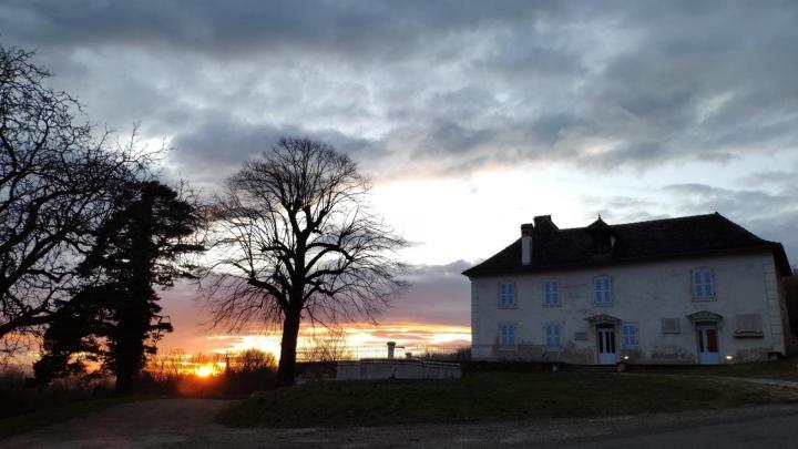 Maison d'Izieu - Coucher du soleil