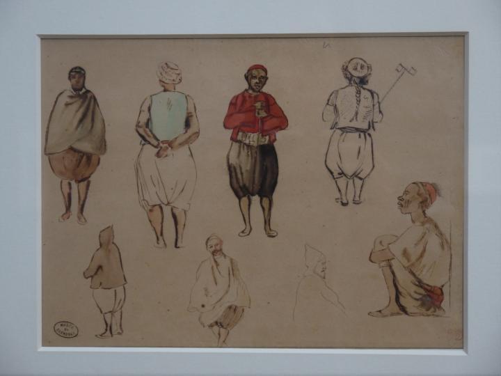 Musee de Grenoble - De Delacroix à Gauguin - Etudes de costumes algériens (Eugène Delacroix)