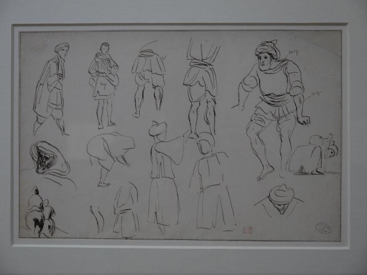 Musee de Grenoble - De Delacroix à Gauguin - Figures Marocaines - Eugène Delacroix (étude de costumes)