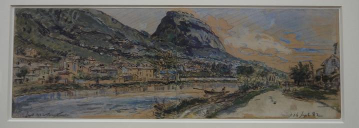 Musee de Grenoble - De Delacroix à Gauguin - L'Isère à Grenoble, 12-14 Septembre 1882,  Johan Barthold Jongkind