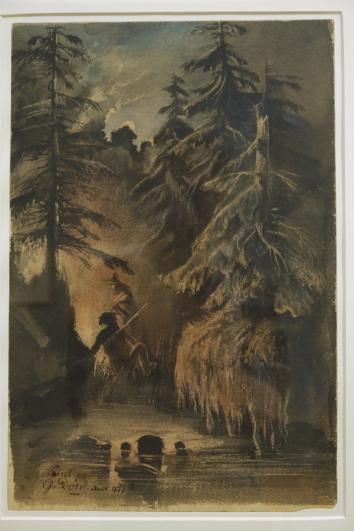Musee de Grenoble - De Delacroix à Gauguin - Lac entre les sapins (Gustave Doré 1846)
