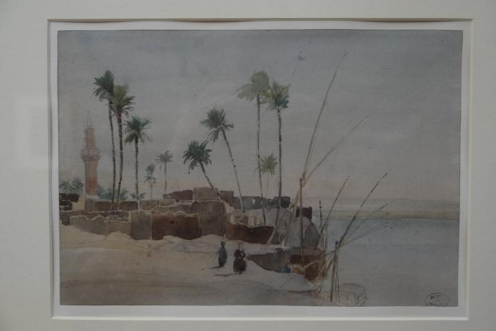 Musee de Grenoble - De Delacroix à Gauguin - Paysages des bords du Nil (Ernest Constant Simon)